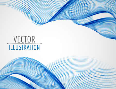 sharp curve: Abstract line waves. Glossy bright lines. Vector background. Illustration