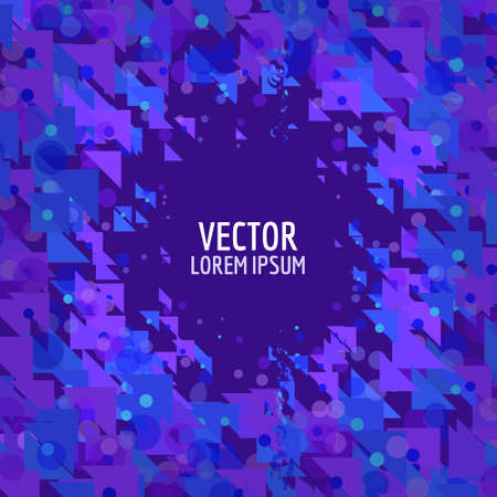 chaos: Abstract particles composition. Chaos template for text. Abstract vector.