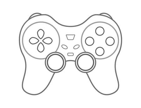 move controller: Vector gamepad. Game controller device.