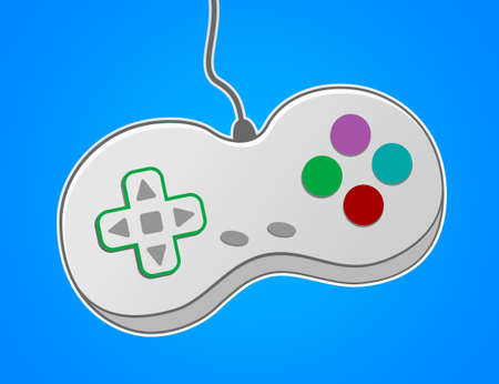 gamepad: Vector gamepad. Game controller device.