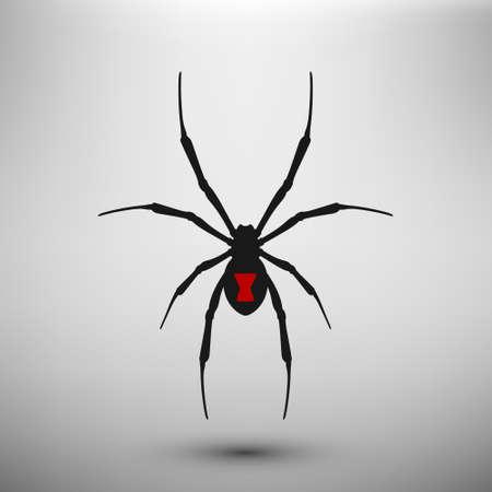 icono de la araña viuda. vector aislado.