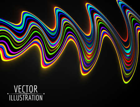abstract: Abstract glowing rainbow lines. Vector.Abstract background. Abstract. Abstract. Abstract. Abstract. Abstract. Abstract. Abstract. Abstract. Abstract. Abstract! Illustration