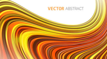 Vector. Abstract smooth background curve composition