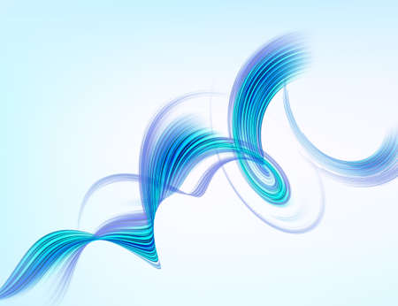blue swirl: Vector background. Abstract blue swirl, isolated on white Illustration
