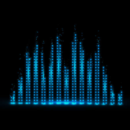Music equalizer background. Vector illustration. Фото со стока - 70970604