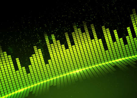 Music equalizer background. Vector illustration. Фото со стока - 70970615