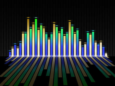 Music equalizer background. Vector illustration. Фото со стока - 70919251