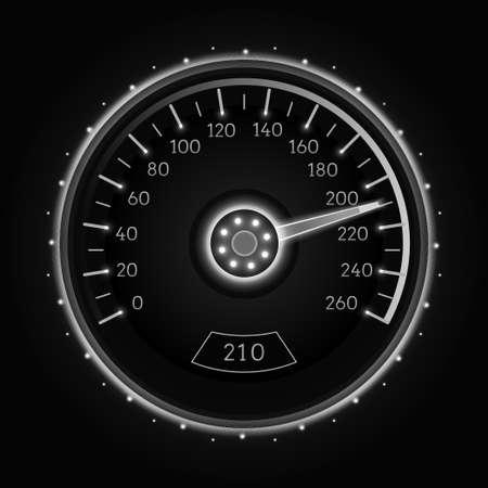 car: Car speedometer. Vector techo background.