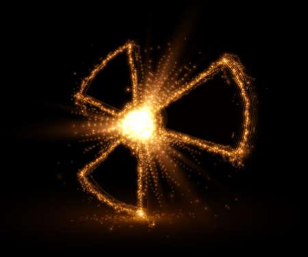 Radioactive symbol, abstract backround. Vector illustration.