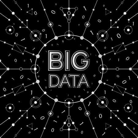 visual: Vector BIG DATA background. Visual abstract concept