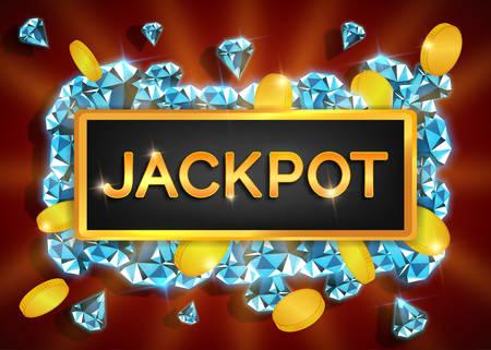 dimond: Jackpot casino background.Vector illustration.