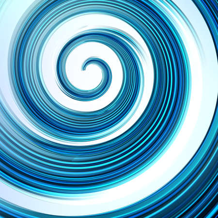 Vector background. Abstract blue swirl on white.