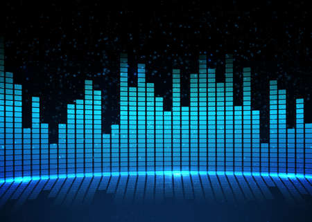 Music equalizer background. Vector illustration. Фото со стока - 73136206