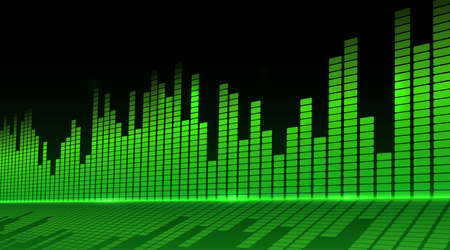 Music equalizer background. Vector illustration. Фото со стока - 73136207