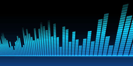Music equalizer background. Vector illustration. Фото со стока - 73136234