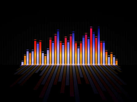 Music equalizer background. Vector illustration. Фото со стока - 73136232