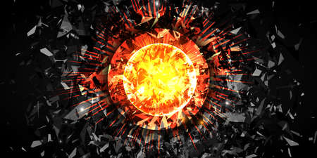 Abstract explosion, powerfull burst. Vector background.