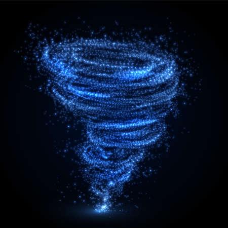抽象的な竜巻の渦。ベクトル illutration。  イラスト・ベクター素材