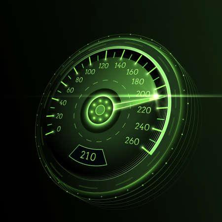 車の速度計。手帳のベクトルの背景。