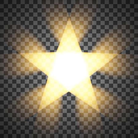 明るい飛行星が分離されました。ベクトルの図。