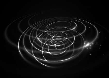 光の効果を旋回します。ベクトルの要素。