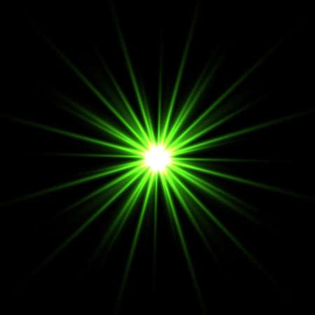 光の効果、輝くフレア。ベクトルの要素。