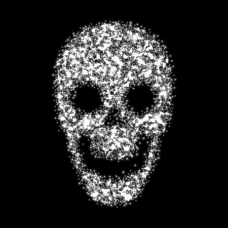 抽象的な頭蓋骨。ベクトルの図。