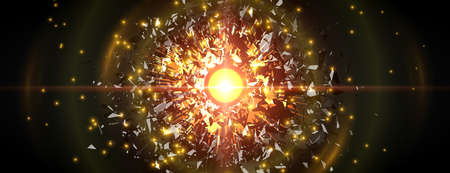 抽象的な黒い粒子の爆発。ベクトルの背景。