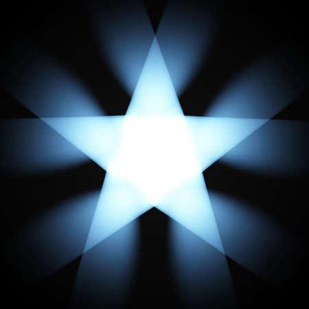 Bright flying star isolated. Vector illustration. Иллюстрация