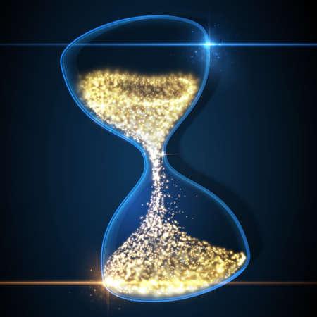Hourglass, abstract magic sand clock wallpaper. Vector illustration.