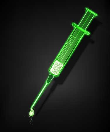 注射器、医療の背景。ベクトルの図。
