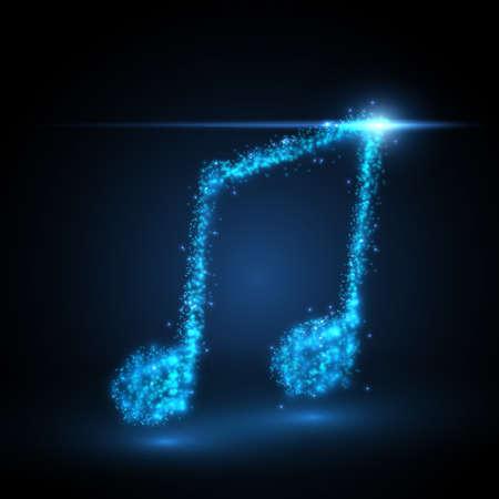 注バック グラウンド ミュージックを抽象化します。ベクトルの図。