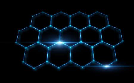 六角形の背景を抽象化します。ベクトル図