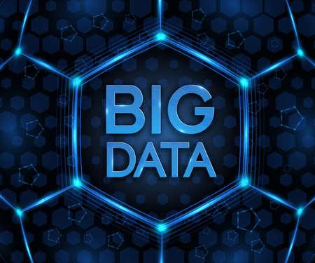 大きなデータのベクトルの背景。抽象的な概念を視覚的