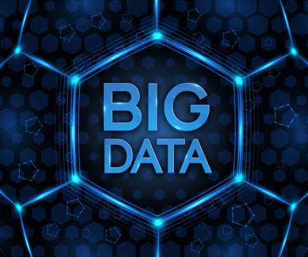 Vector BIG DATA background. Visual abstract concept
