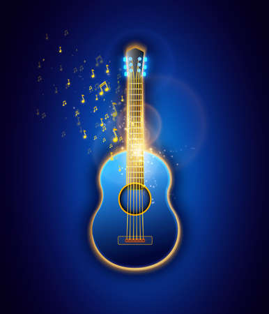 Classic Guitar, abstract illustration Vector graphic