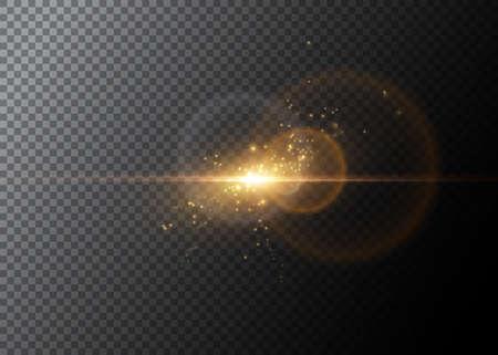 光の効果、輝くフレア ベクター要素  イラスト・ベクター素材
