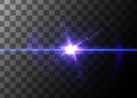 Light effect, glowing flare. Vector element. Иллюстрация