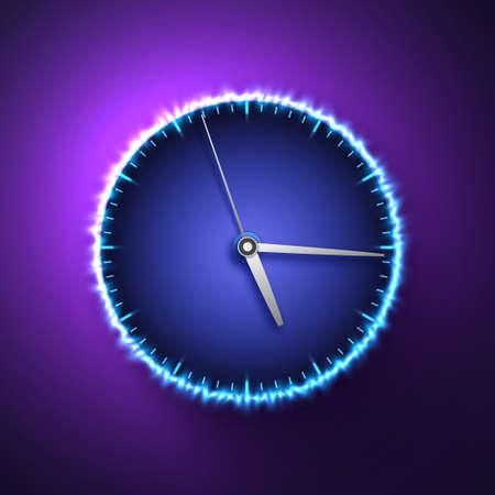 Vector illustration of abstract clock. Иллюстрация