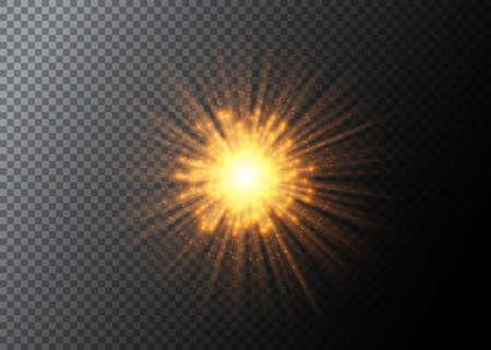 抽象的な爆発のベクトルの背景。透明で分離された花火の要素。