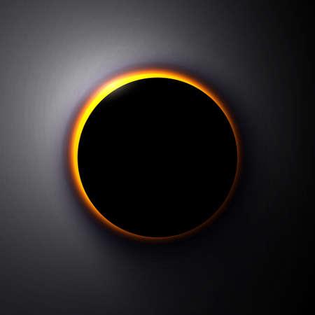 Vector solar eclipse sun in space, cosmic pattern.