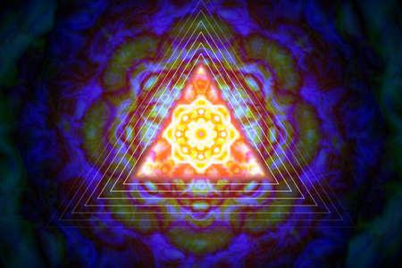 三角形の抽象的な髪飾り。ベクトルの図。 写真素材 - 76782586