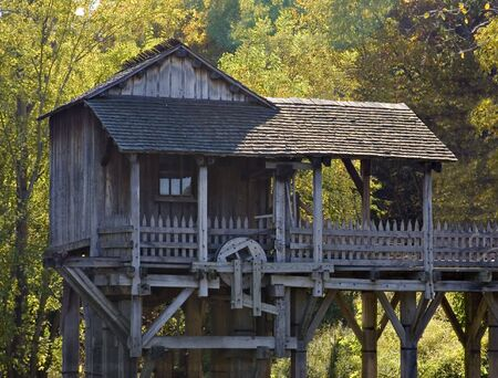grist: Saw and grist mill located in new salem village illinois