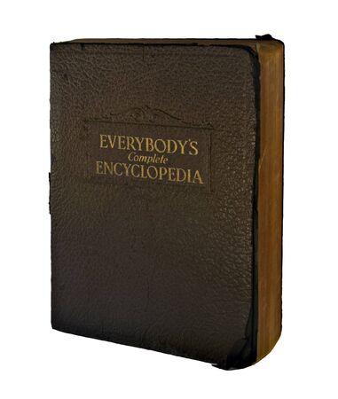 화이트에 고립 된 1937 년에 저작권이있는 늙은 백과 사전