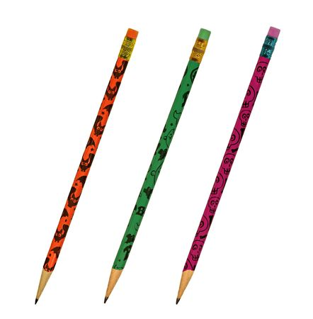 Three  pencils isolated on a white background photo