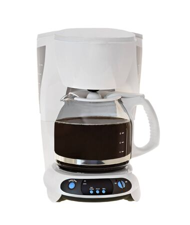 Coffee maker isolated on a white  Stock Photo