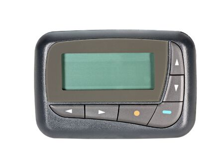 Pager with copy space on display isolated on white