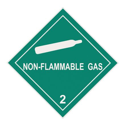 United States Department of Transportation non-flammable gas warning label islolated on white Stock Photo - 4588944
