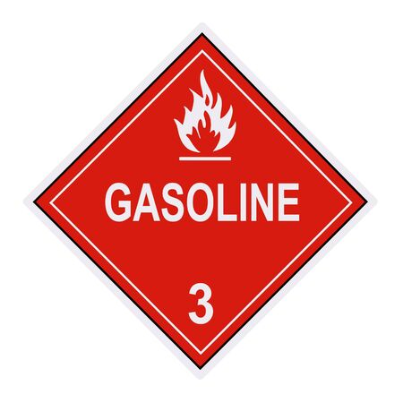 United States Department of Transportation gasoline warning label isolated on white Stock Photo - 4656667