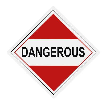 United States Department of Transportation dangerous warning label isolated on white Stock Photo - 4656666
